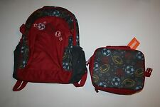 New Gymboree Sport Balls Lunchbox Backpack Set 2T 3T 4 5 6 7 One Size NWT Boys
