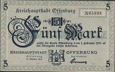 Germany / Offenburg  5  Mark  1.2.1919  Circulated Banknote