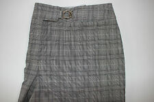 NWT WORTHINGTON Size 12P Women's Flat Front Plaid MODERN FIT Stretch Dress Pants