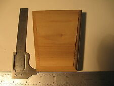 "Poplar Keystone Plain 4-3/4x4""x2-3/4x1-1/16"" Unfinished Door Window Trim (888)"