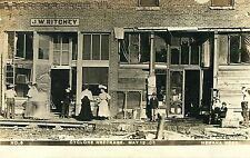A View of J.W. Ritchey's Store After the Cyclone, May 12, Nemaha NE RPPC 1908