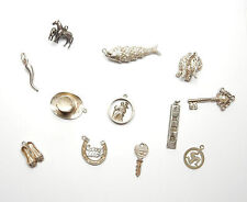 Vintage 1970's Sterling Silver 925 JOB LOT OF CHARM CHARMS 37.7g Lot 3