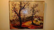 """Morris Katz Original Oil Painting 20"""" x 24"""" Signed 1999 """"HIGHLANDS AUTUMN SCENE"""