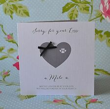 Personalised Pet Bereavement card loss of pet Sympathy Condolence