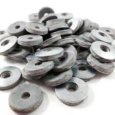 100, 19mm BONDED TEK SCREW GALVANISED ROOFING WASHERS, EPDM RUBBER, 4mm THICK