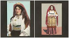 Lotto cartoline Costumi di Sardegna Dorgali