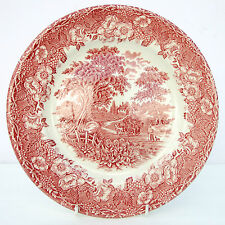 Vintage English Ironstone Tableware Kingswood Pink Dinner Plate