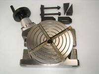 """4"""" 100 MM Rotary Table for Lathe or Milling Machine from Chronos With Clamps"""