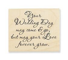STAMPENDOUS RUBBER STAMPS YOUR WEDDING STAMP