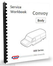 LDV Convoy Heater Locks Wipers Doors - Body Fittings Manual