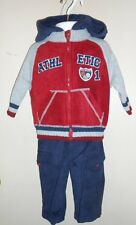 Kids Play Infant Boys Three (3) Piece Hooded Fleece Bomber Jacket Set 12M NWT