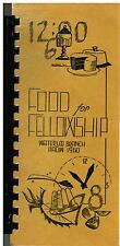 LOT OF 3 *WATERLOO IA 1960 ANTIQUE *AAUW CLUB COOK BOOKS *FOOD FOR FELLOWSHIP