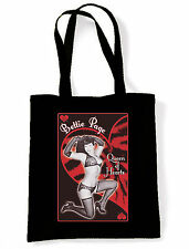 Betty Page Eco Shopper  Tote Bag Goth Fetish Burlesque