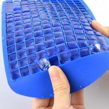 160 Ice Cubes Frozen Cube Bar Pudding Silicone Tray Mould Mold Tool Blue