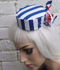 MINI PILL BOX TOP HAT SAILOR STRIPE GOTHIC LOLITA GOTH INDIE GRUNGE HALLOWEEN