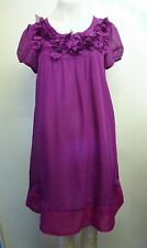 Gorgeous Pink Organza Trimmed Fully Lined Dress by Max C - Size S - BNWOT!