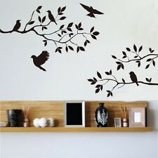 Black Birds Tree Branches Removable Vinyl Art Wall Sticker Home Decals Decor DIY