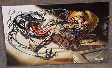 Marvel Venom Attacking Gwen Stacy Glossy Print 11 x 17 In Hard Plastic Sleeve