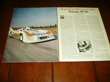 PORSCHE 917-30 - 1300 H.P. ***ORIGINAL 1982 ARTICLE***