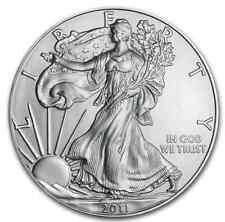 UNCIRCULATED 2011 ONE OZ AMERICAN EAGLE ONE DOLLAR .999 FINE SILVER COIN GEM BU