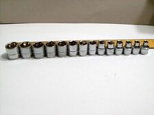 "Matco Tools Silver Eagle 3/8"" Drive 14 pc Metric Socket Set  6- 19 mm 6 point mA"