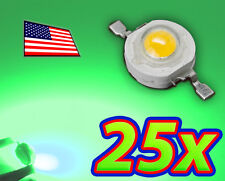 [25x] 1W Bright Green High Power LED Lamp Beads 70-80Lm 1 Watt - Ships FAST USA!