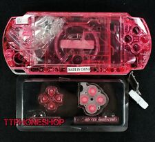 Crystal Red Housing Faceplate Case Cover for PSP 3000 Slim ( Factory B )