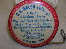 Vintage Advertising Tape Measure Surgical Appliances Seamstress Cleveland Ohio