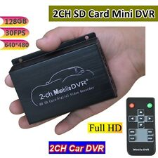 Mini 2-CH Mobile Car DVR  Record Full Stop/Auto Coverage Ach Camera