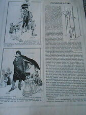 Les Don Juan Tenorio D'Artagnan Richelieu Lasalle Ténébreux Print Humour 1912