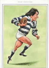 ANDY IRVINE rugby caricature print by John Ireland measures 19cm x 27cm