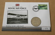HISTORY OF THE RAF WORLD WAR 2 AIRCRAFT 2010 COVER + GIBRALTAR 2008 CROWN COIN