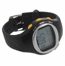 SSG Black Yellow Pulse Heart Rate Cardio Calorie Counter Exercise 6 in 1 Watch