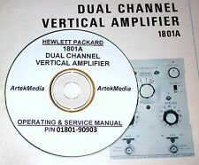 HP Hewlett Packard 1801A Dual Channel Vertical Amp, Ops & Service Manual (Early)