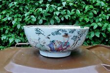 18thc ANTICO CINESE IN PORCELLANA FAMILLE ROSE Punch Bowl QIANLONG ca1775