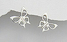 Sterling Silver 14mm Floating Butterfly Earrings + Premium Heavy Duty Backs 1.9g