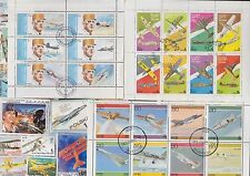 125 ALL DIFFERENT WAR PLANES ON  STAMPS (TYPE 2)