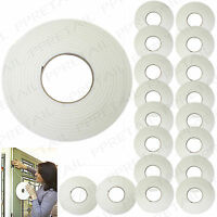LARGE PACK 18 ROLLS FOAM DRAUGHT EXCLUDER STRIP TAPE Weather/Draft/Window/Seal