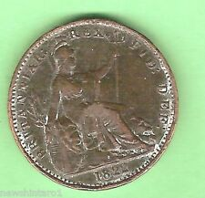 GREAT BRITAIN COPPER FARTHING - 1822