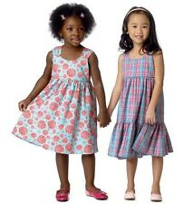 Butterick 6004 Easy See & Sew Pattern to MAKE Lovely Girls' Dresses for Ages 1-6