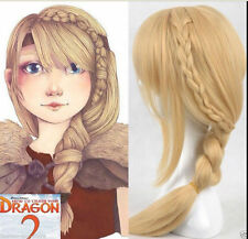 How To Train Your Dragon 2 Astrid Long Braid Cosplay Wig+ free wigs cap