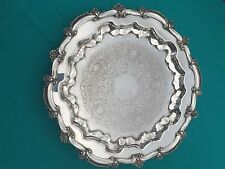 W.S. Blackinton Footed Silverplate Tray - CHIPPENDALE Pattern - Shell Rim
