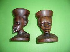 610KS1 Aus Afrika: Figürliche Kerzenständer, Kerzenhalter aus Holz geschnitzt