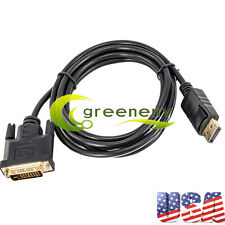 New 6FT 1.8M Displayport DP Male To DVI-D w/ IC Male Adapter Cable Cord for HDTV