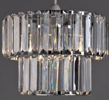 VENETIAN STYLE CLEAR CRYSTAL CEILING LIGHT SHADE PENDANT
