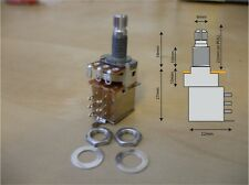 Push / Pull DPDT switched potentiometer, B250k, 2x mounting nuts and 1 washer