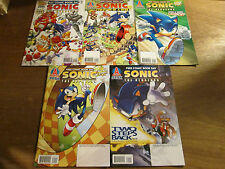 5x SONIC THE HEDGEHOG FCBD; Archie comics lot SEGA nintendo sony SPAZ Yardley