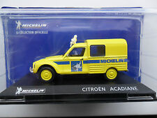 CITROEN ACADIANE DYANE VAN MICHELIN LA COLLECTION OFFICIELLE 1/43 DIECAST + MAN