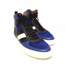 J-1621179 New Bally Hewie Blue Leather & Suede High Top Sneakers Shoes Size 8