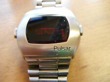vintage Pulsar Led watch time computer sold As-is